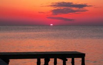 Sunset over the Pamlico Sound taken a couple weeks ago