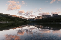 Sunset over Trout Lake in the foothills of Telluride