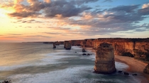 Sunset over twelve apostles Melbourne Australia