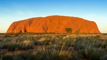 Sunset over Uluru located in Australias Red Centre