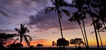 Sunset overlooking Makalawena Beach Hawaii My brother said it looks like a postcard pic and I agree lol