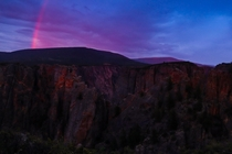 Sunset rainbow at the Black Canyon of the Gunnison