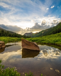 Sunset Reflections Snowmass Colorado