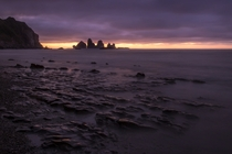Sunset somewhere along the west coast of New Zealand