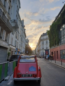 Sunset through the streets of Montmarte France