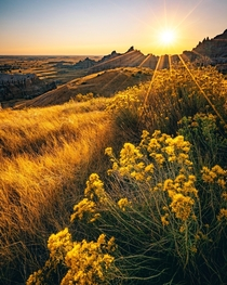Sunset view from Badlands National Park  IGjessehurtphoto