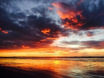 Sunset Westcoast New Zealand  x