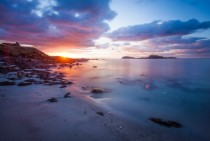 Sunset  Westing beach Unst Shetland UK