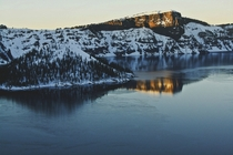 Sunsets and Snow at Crater Lake National Park