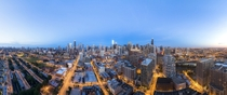 Super Panorama Blue Hour of Downtown Chicago