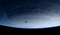 Super typhoon Maysak photographed from ISS by Samantha Cristoforetti