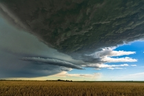 Supercell Thunderstorm over the Nebraska Plains Alliance NE