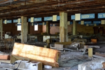 Supermarket in Pripyat  Ukraine near Chernobyl