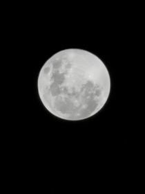 Supermoon from Johannesburg South Africa