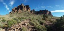 Superstition Mountains Arizona taken today