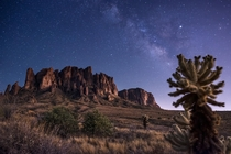 Superstition Mountains AZ Milky Way