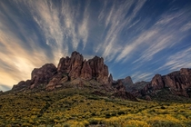 Superstition Mountains AZ USA