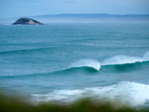 Surf break in Otago New Zeland