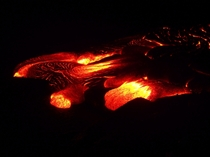 Surface Flowing Lava - Kilauea --