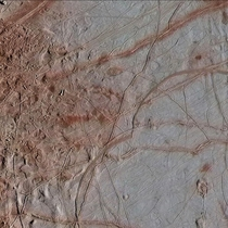 Surface of Europa Jupiters icy moon