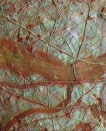 Surface of Europa Jupiters moon