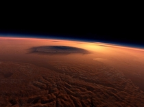 Surface of Mars as seen from space