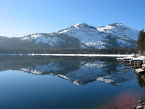 Surprisingly still water at Donner Lake CA made for a nice reflection