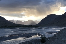 Surreal clouds over Spiti river basin of Spiti Valley India