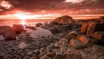 Sweet Light Sunset  The Giants Causeway Northern Ireland