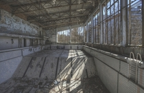 Swim - swimming pool in abandoned city of Pripyat