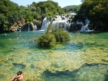Swimming at KRKA Croatia national park