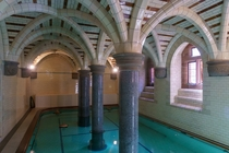Swimming pool in Mount Stuart House extravagant Scottish mansion