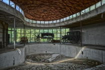 Swimming pool of a strange abandoned house in Ontario Canada  by CrazyCarClub