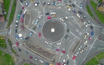 Swindon England Taking roundabout to a nightmare level