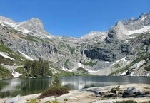 Swiss Alps or Sequoia NP Recently finished the  mile High Sierra Trail This is a shot of Hamilton Lake on day  of the trip