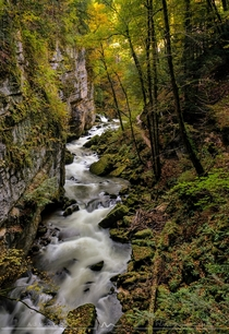 Switzerland has more than The Alps autumn in Areuse gorge The Swiss Jura OC