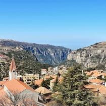 Switzerland in the Middle East Historic Hasroun Perched on the Edge of the Qadisha Valley Lebanon -