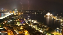 Sydney at night with lighting last night