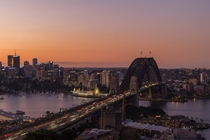 Sydney at Sunset  by Mike Robertson