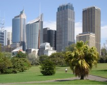 Sydney Australia as seen from the Botanical Gardens