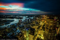 Sydney Australia from day to night