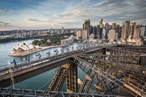 Sydney Australia from the Harbour Bridge