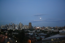 Sydney CBD in the evening