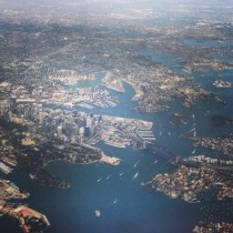 Sydney fly over shot Eat your heart out iOS  maps