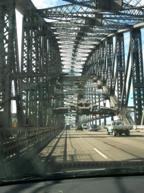 Sydney Harbour Bridge as seen from the inside for those of you who have not driven across it