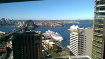Sydney harbour from an office building