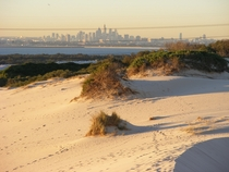 Sydney viewed from the Cronulla sand dunes