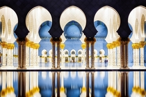 Symmetry - The Sheik Zayed Grand Mosque in Abu Dhabi  photo by Nicole S Young