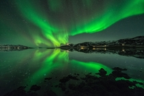 Symphony of Light - the Aurora Borealis over Troms Norway  photo by Raymond Hoffmann