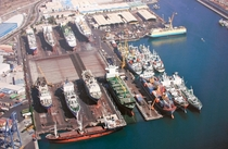 Syncrolift at ASTICAN shipyard Port of Las Palmas Canary Islands